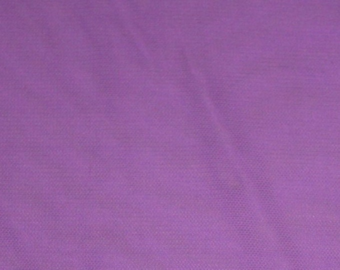 Purple Mesh/ Lilac Lightweight Netting/ Fabric by the yard/ Stretch Spandex/ Dancewear Costume/ Trendy Activewear/ Pastel Tulle Craft/ BTY
