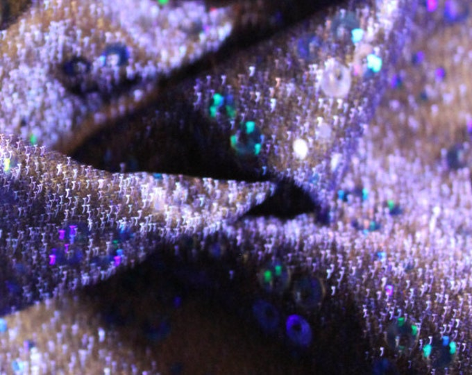 Blue Floral Lurex/ Novelty Foil/ Fabric By the yard/ BTY/ Metallic Shimmer/ Celestial Poly/ Craft Costume/ Dancewear Swimwear Theatrical