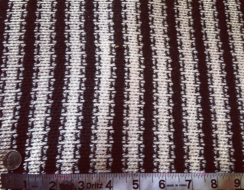 Black and White Striped Loose Weave Lightweight Sweater Knit 54 wide Cotton Crochet Loose weave Hacci Tribal Aztec See through
