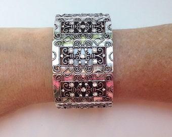 Fashion Bracelet: Silver Claire's Curls