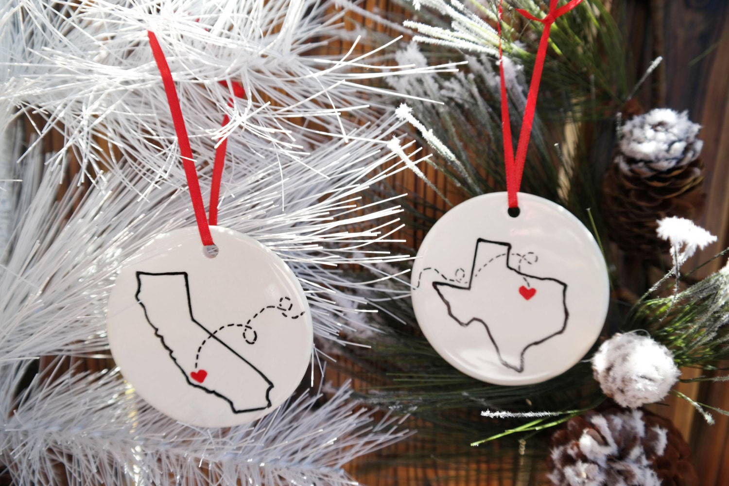 Miss You Christmas Ornament Best Friends Christmas Gift Etsy