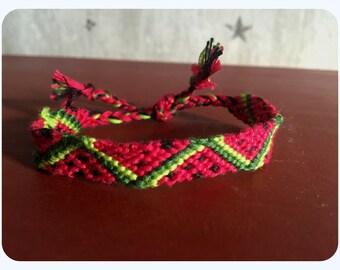 Watermelon Friendship Bracelet