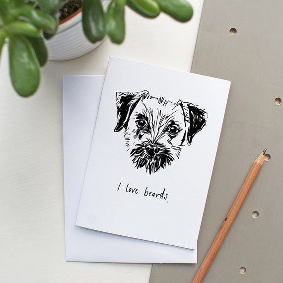 items similar to border terrier greeting card a6 on etsy