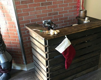 Rustic Pallet Bar Unit, Pallet Reception Desk, Pallet Sales Counter (Local Delivery Only)