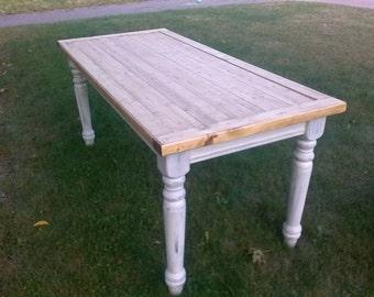 Rustic Farmhouse Table, Farm Table, Dining Table (Reclaimed Wood)