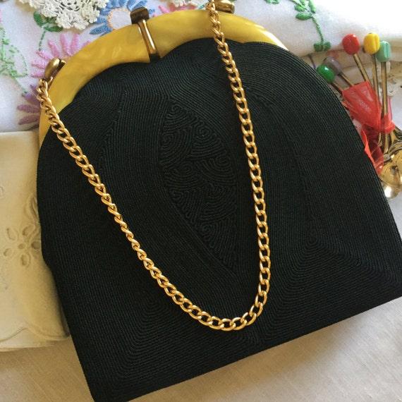Genuine Cord product 1930's Art Deco Handbag made