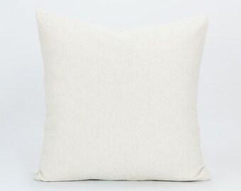 100% Organic Linen Pillow Cover - Natural Pillow, Organic Pillow, Throw Pillow, Organic Fabric, Linen Cushion, Soft Textured Rustic Cream