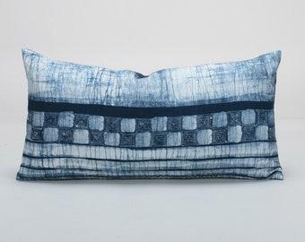 Pillow cover, Batik Pacific Blue Linen