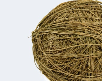 Hmong Hemp Twine - Raw Handmade Rustic Natural Hemp Rope / Twine / Organic String Ball | Organic Twine | Hmong Hill Tribe Hemp String