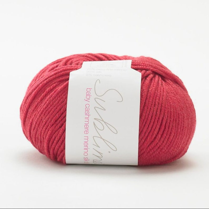 Sublime Baby Cashmere Merino Silk Dk 192 Teddy Red