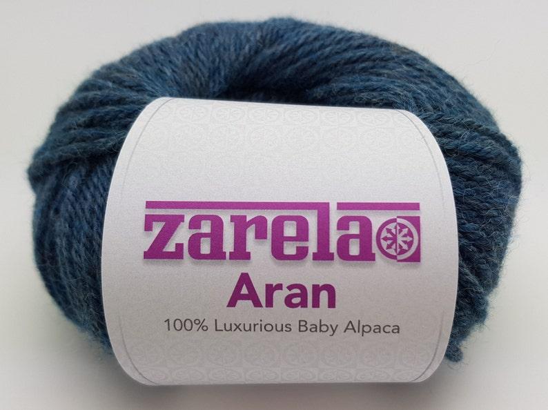 Teal Zarela ARAN *Super Soft* 100/% Luxurious Baby Alpaca Yarn Wool