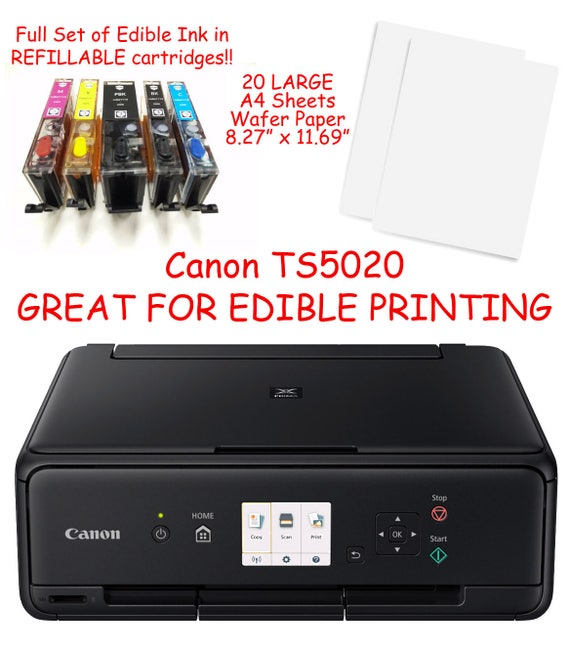 Canon ts6020 edible printer bundle w ink 20 large a4 wafer etsy image 0 maxwellsz