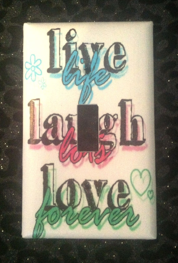 Live Laugh Love Home Decor Custom Light Switch Plate Cover Etsy