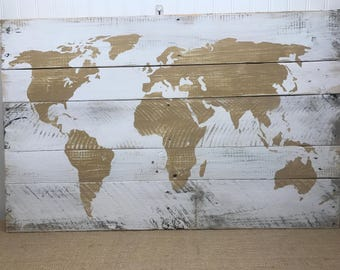 Pallet map etsy world map sign rustic map sign rustic pallet wall art map of the world sign gift for explorer wooden map sign varying sizes gumiabroncs Choice Image