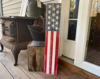 c39705ee9956 Wooden American Flag Sign - Front Door Signs - Patriotic Signs - Fourth of  July Decor