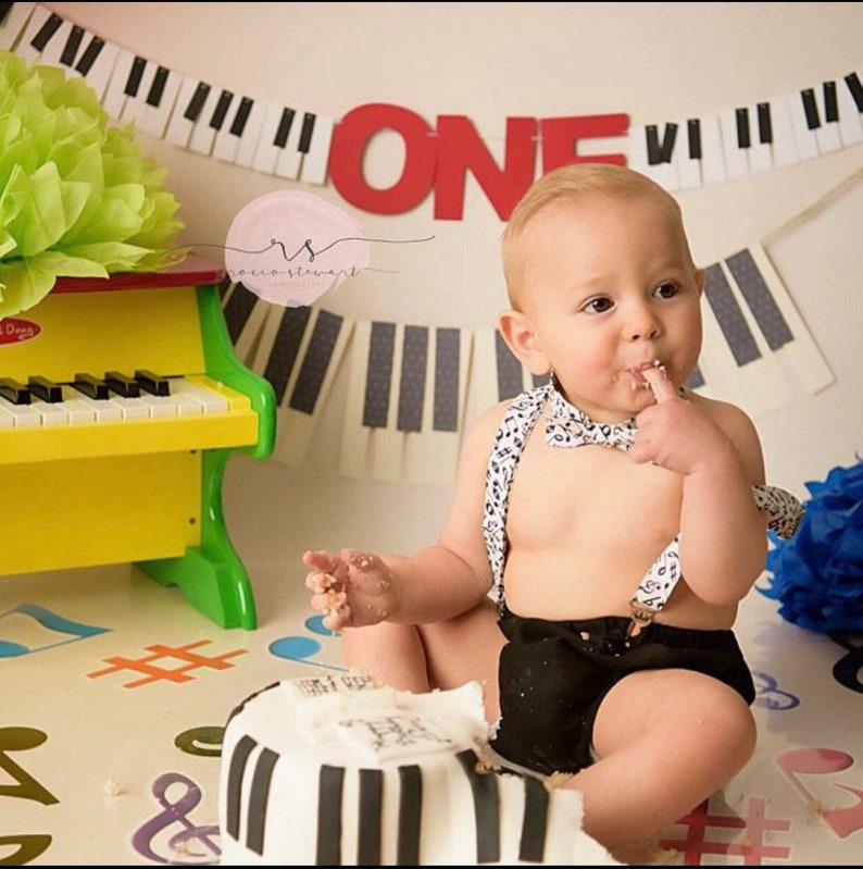 NEW Music Keyboard Piano Suspenders and Bow Tie Bowtie Combo Set