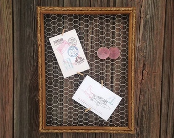 Chicken Wire Frame, Jewelry Holder, Jewelry Display, Picture Frame, Earring Display, Rustic Frame, Beach Decor, Message Board, ArteryArsenal