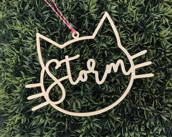cat christmas gift custom christmas ornament personalized ornament teacher gift gift for animal lover gift for pet cat lover gifts