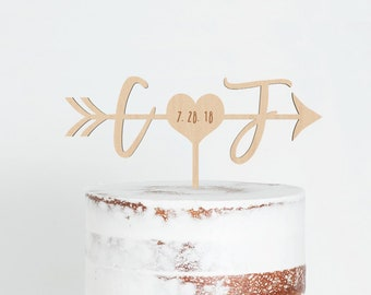 91e9fc28e7bff7 Arrow cake topper