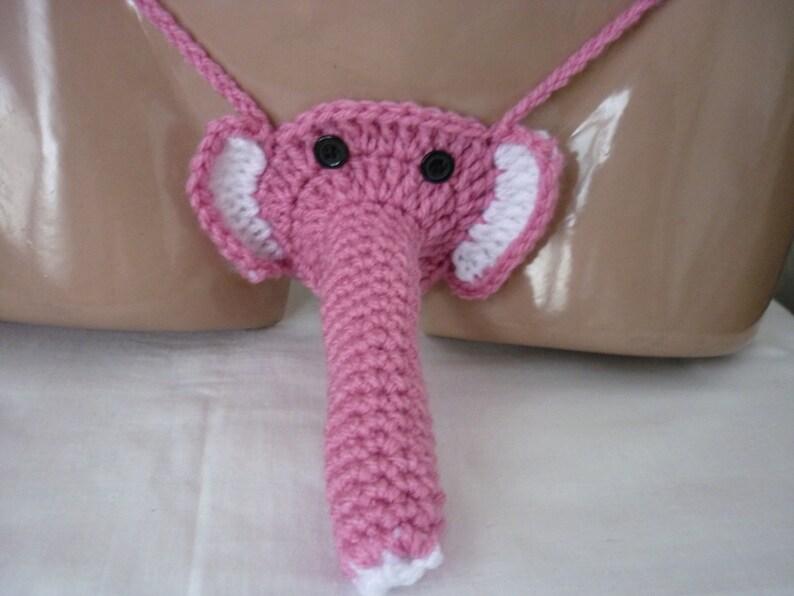 6233e10ed3c7 Pink Crochet Elephant Sexy Men's Thong Men thongs string   Etsy