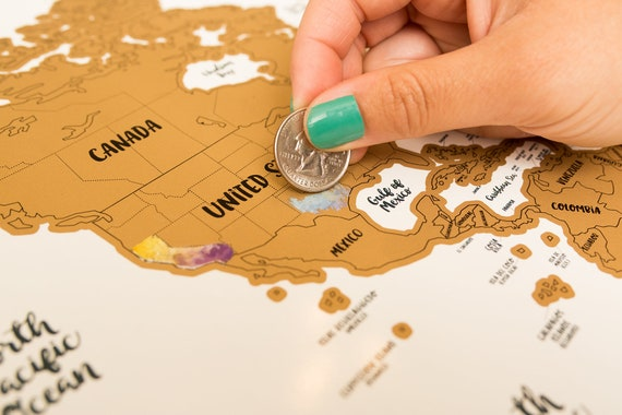 Sale travel gift world map w us canadian and australian gumiabroncs Choice Image