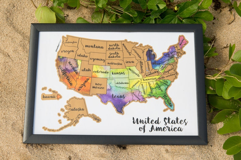 Where To Buy A Map Of The United States.Scratch Your Travels Usa Map United States Of America Etsy