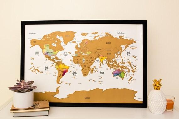 Black Friday: WORLD MAP w/ US Canada and Australia State | Etsy