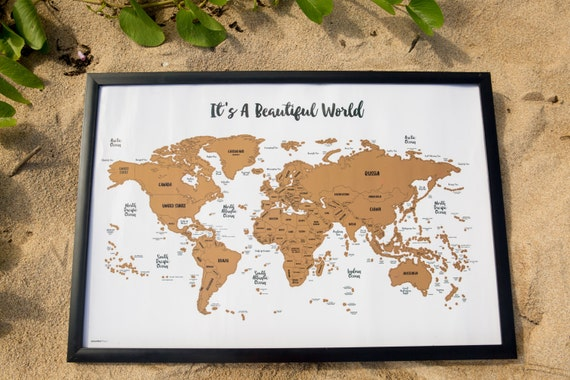 Sale scratch your travels its a beautiful world map like this item gumiabroncs Images