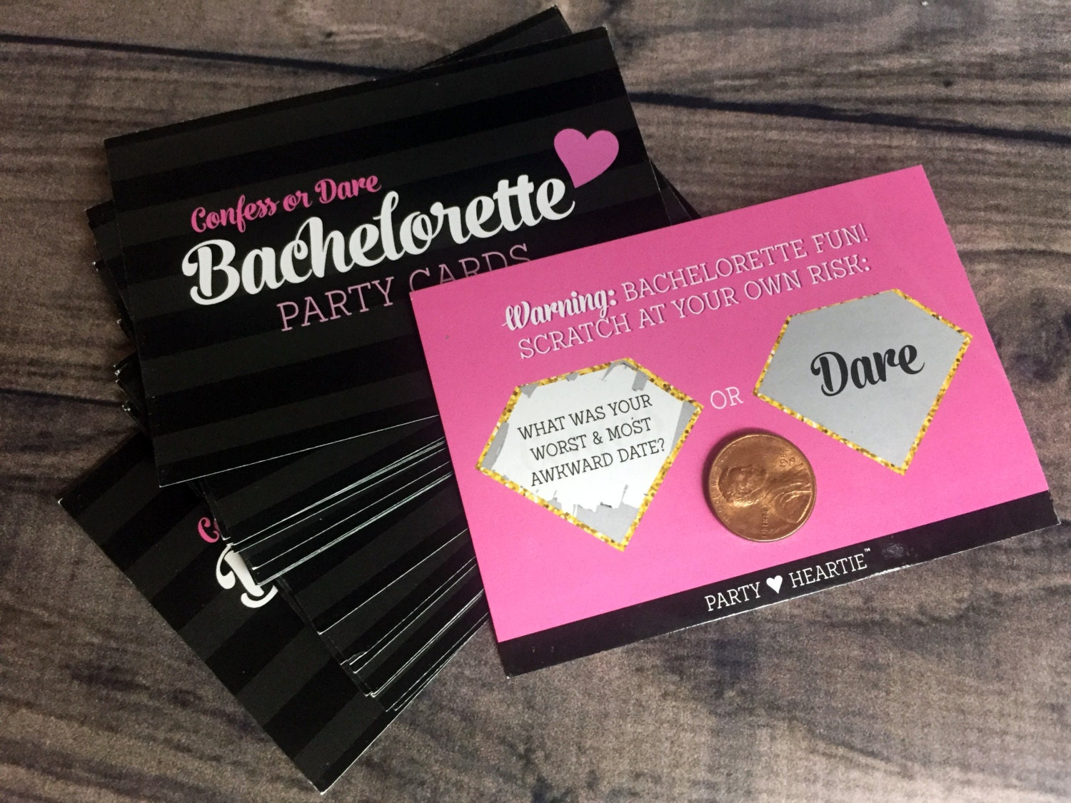 Aug 2018 Bachelorette Confess or Dare Party Game | Etsy