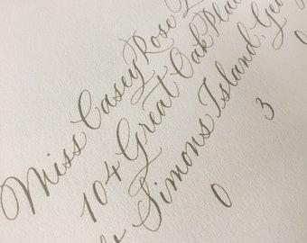 Custom Calligraphy Envelopes (Wedding/Invitation/Event)