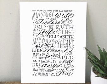 A Prayer for my Daughter // 8x10 PRINT