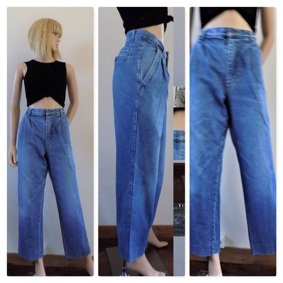 save up to 80% sale online classic style 80s/90s blue baggy jeans unisex loose jeans mom pant jeans size 34 inch  waist