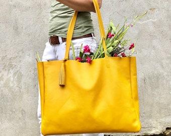 3ce9e7c7ed Extra large Leather bag travel tote