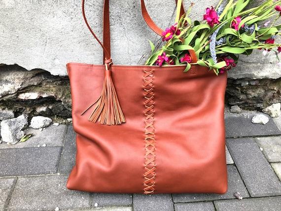 e928678306 Large Leather tote bag SALE Large Leather Shopper bag