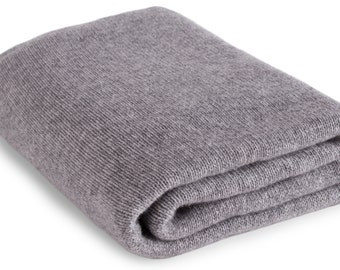 Large 100% Cashmere Blanket Wrap - 'Light Gray' - ** Made to Order, 3 Sizes Available ** - handmade in Scotland by Love Cashmere