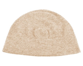 6809a4caa37 Mens 100% Cashmere Watch Cap Beanie Hat - Light Natural - handmade in  Scotland by Love Cashmere