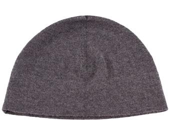 157346970ff Ladies 100% Cashmere Watch Cap Beanie Hat - Dark Grey - handmade in  Scotland by Love Cashmere