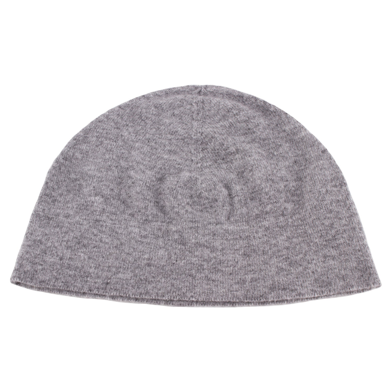9323c50d0 Ladies 100% Cashmere Watch Cap Beanie Hat - Light Grey - handmade in  Scotland by Love Cashmere
