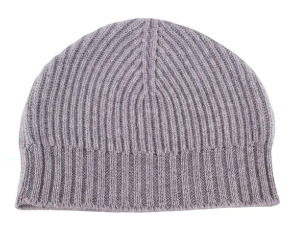 Love Cashmere Mens 100/% Cashmere Beanie Hat Hand Made in Scotla... Dark Gray