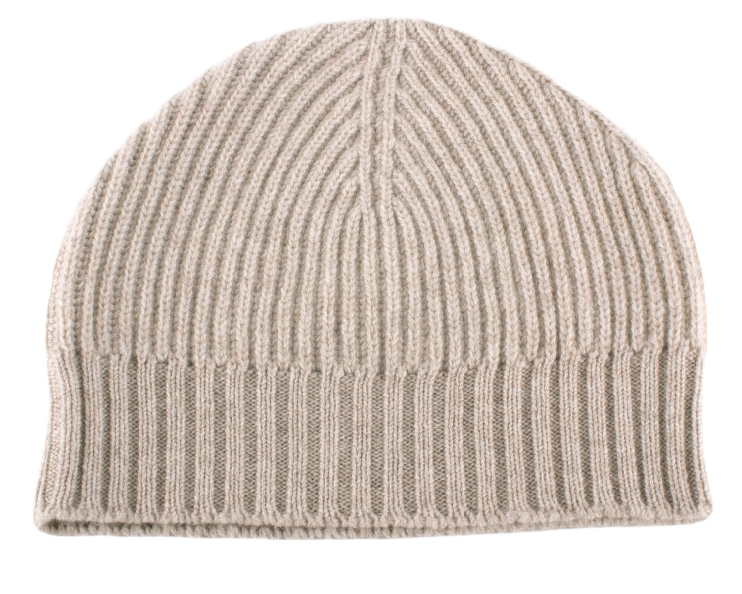 b10b592c44d Mens Ribbed 100% Cashmere Beanie Hat Light Natural