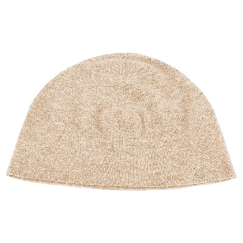 573bec926d5 Ladies 100% Cashmere Watch Cap Beanie Hat Light Natural
