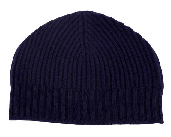 Ladies Ribbed 100% Cashmere Beanie Hat Navy Blue handmade  b6a6d08c32c