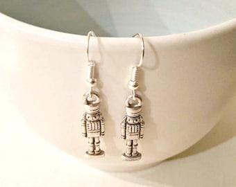 9bea7cd2a Christmas earrings, nutcracker earrings, Xmas earrings, Festive earrings,  dangle earrings, holiday earrings, gift for her, stocking stuffer
