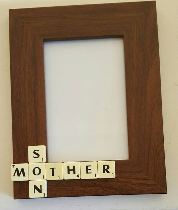 Mother Frame Son Frame Mother Son Family Frame Scrabble Etsy