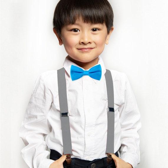 Baby suspenders blue suspenders set ringbearer blue bow tie royal blue baby suspenders suspenders and bow tie bow tie and suspenders