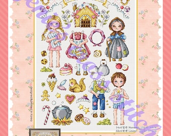 SODAstitch SO-G131 cross stitch pattern or kit Fairy Tale Land 2