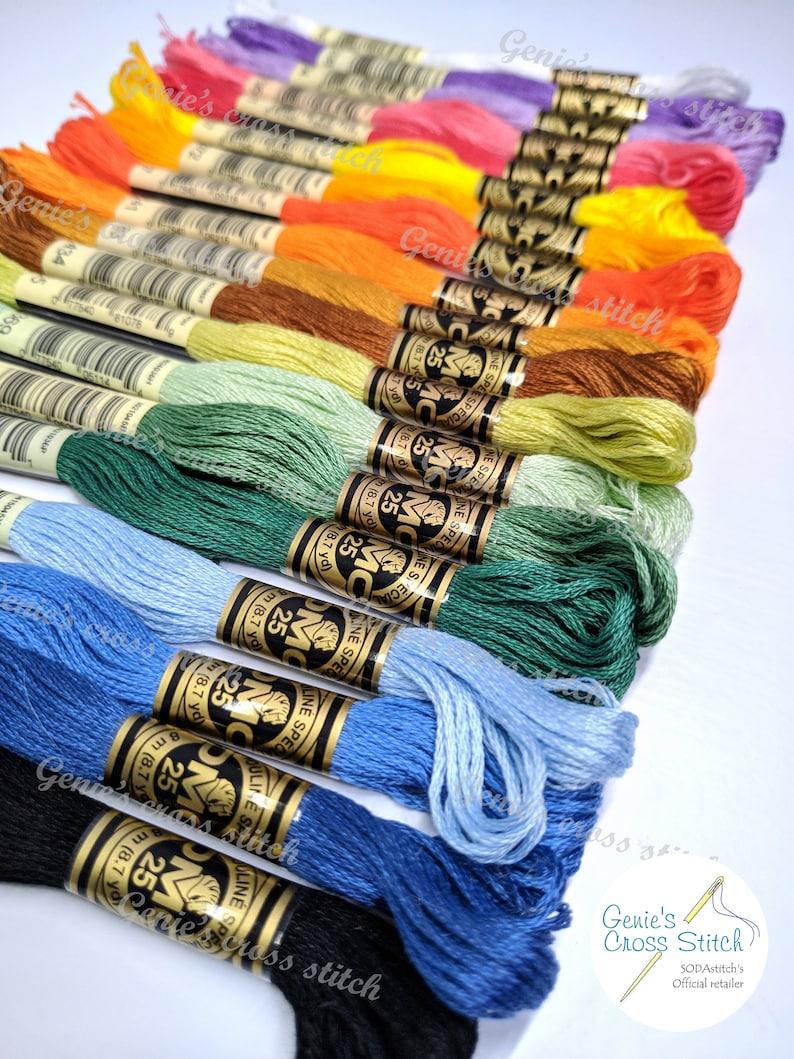 DMC 8 metre cotton cross stitch thread DMC 498 Dark Red Quantity 1