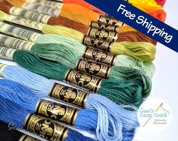 DMC 8 metre cotton cross stitch thread DMC 597 Turquoise Quantity 1