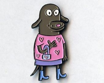 Loyal Dog Enamel Pin