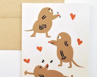 Three Dogs Greeting Card